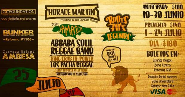 Roots 70's Legends from Jamaica to San Luis: Horace Martin & Abbaba Soul @ Steel Metal Bunker