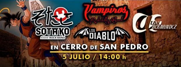 Sotako Anime, Los Vampiros, Los Diablo y Alan Hdz en Cerro de San Pedro