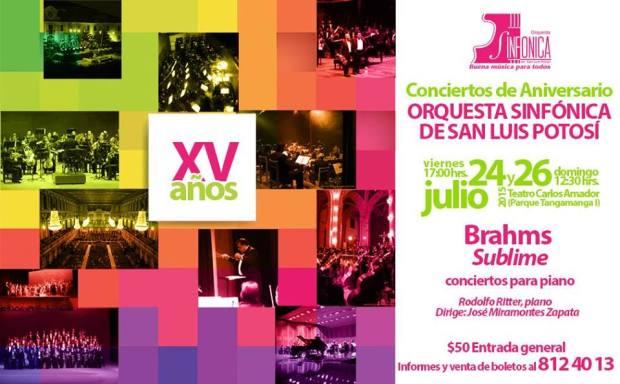 Concierto Aniversario XV años de la Orquesta Sinfónica de San Luis Potosí @ Teatro de la Paz