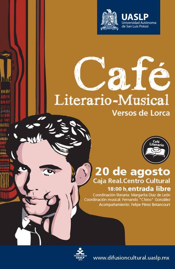 Café literario-musical Versos de Lorca @ Centro Cultural Caja Real