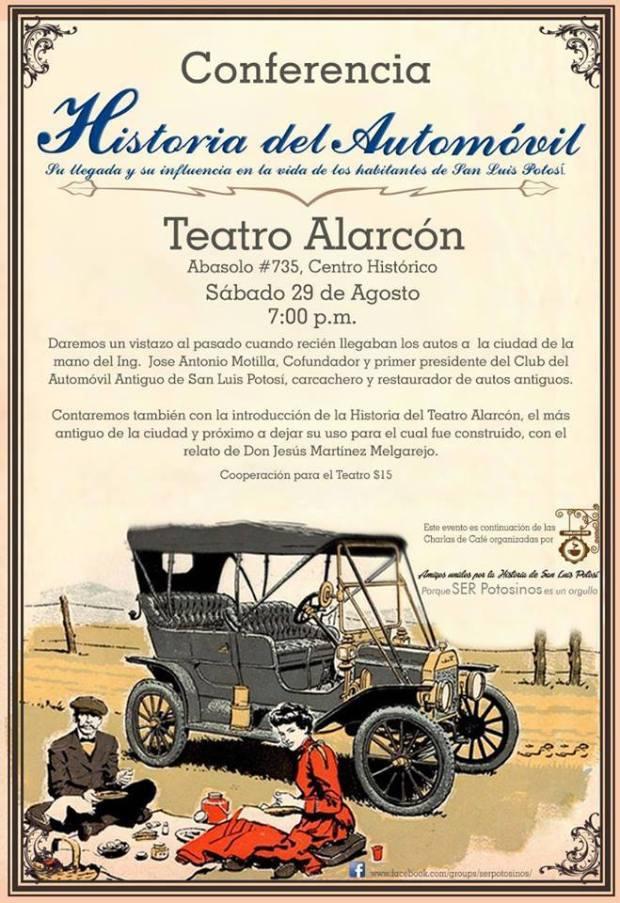 Conferencia: Historia del Automóvil y su llegada a San Luis Potosí @ Teatro Alarcón  | San Luis Potosí | San Luis Potosí | México