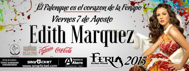 Edith Márquez en la FENAPO 2015 @ Palenque de la FENAPO | San Luis Potosí | San Luis Potosí | México