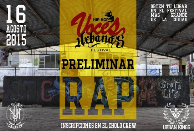 Preliminar Batallas de freestyle Voces Urbanas 2015