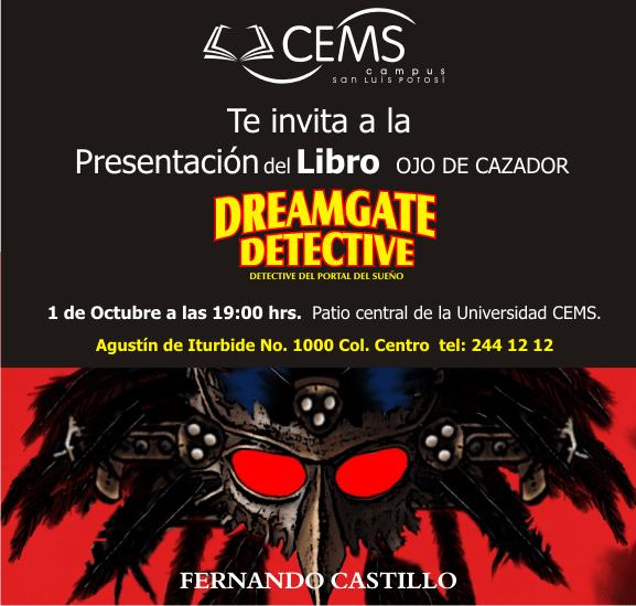 Presentación del libro Dream Detective @ Universidad CEMS | Tijuana | Baja California | México
