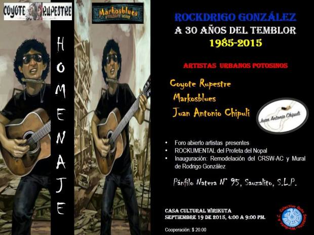 Homenaje a Rockdrigo González a 30 de temblor @ Centro Cultura Sauzalito - Wirikuta