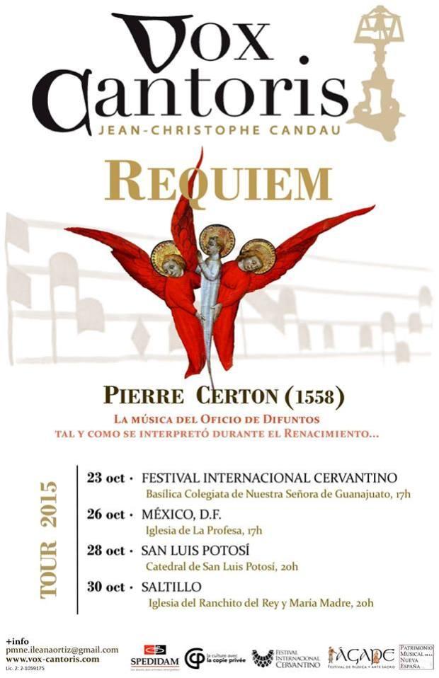 Requiem de Pierre Certon en San Luis Potosí @ Cedral | San Luis Potosí | México