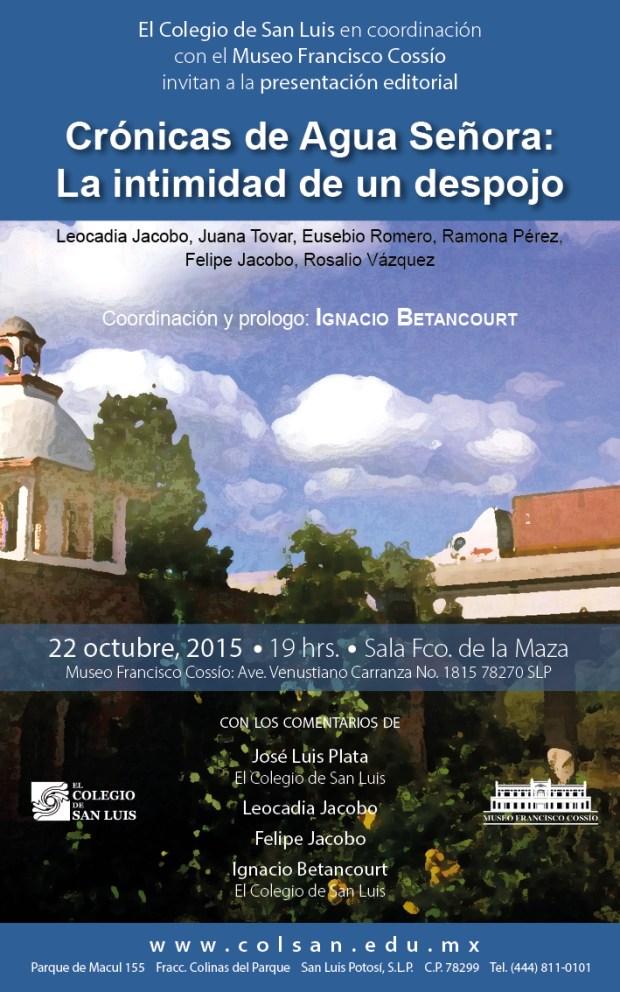 Crónicas de Aguaseñora en el Museo Francisco Cossío @ Museo Francisco Cossío