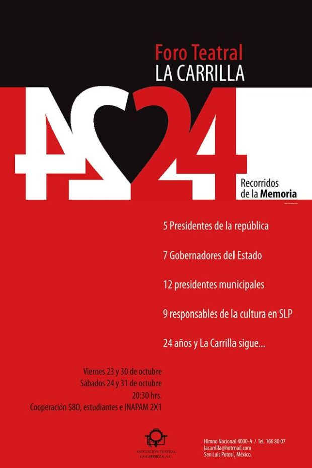 #24RecorridosDeLaMemoria @ Teatro La Carrilla
