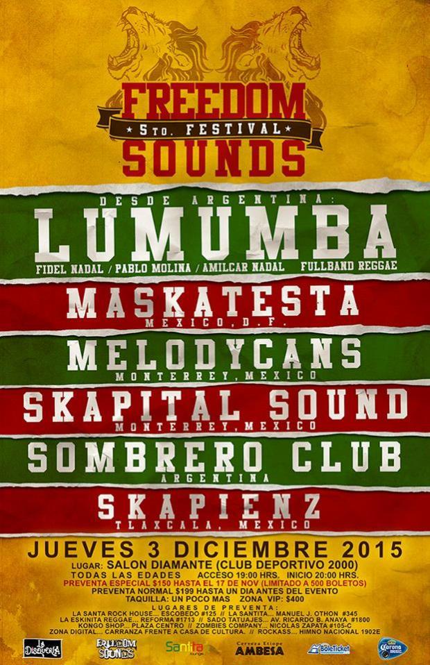 Festival Freedom Sounds 5 @ Club Deportivo 2000