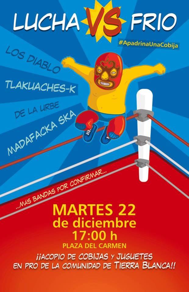 Lucha contra el frío @ Plaza del Carmen | San Luis Potosí | San Luis Potosí | México