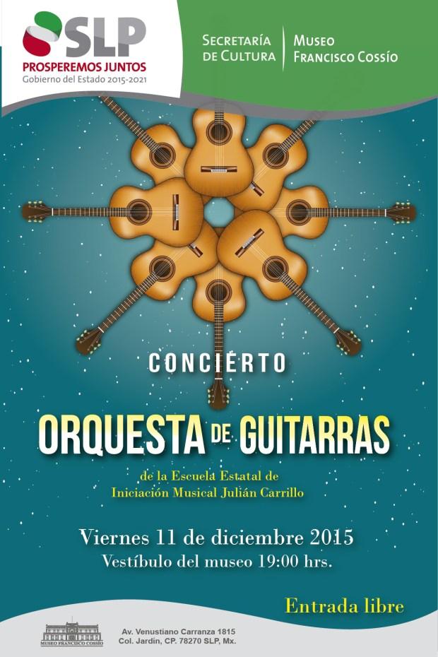 Concierto de la Orquesta de Guitarra de la escuela Julián Carrillo @ Museo Francisco Cossío