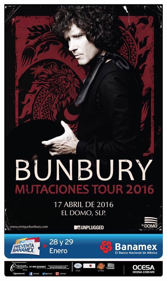 Enrique Bunbury en San Luis Potosí