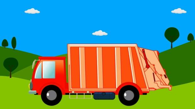 camion de basura dibujo