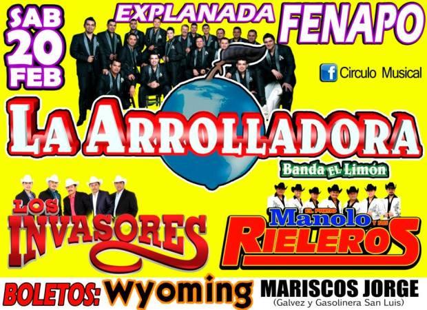 La Arrolladora Banda Limón en San Luis Potosí @ Explanada de la Fenapo