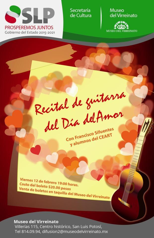 Recital de guitarra del Día del Amor @ Museo del Virreinato