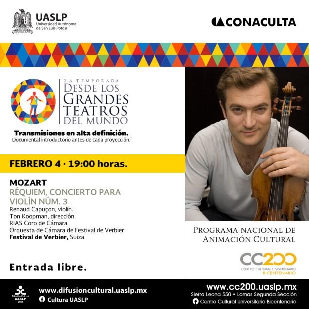 """""""Desde los Grandes Teatros del Mundo"""" @ Centro Cultural Universitario Bicentenario"""