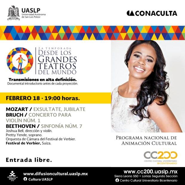 Concierto: Desde los Grandes Teatros @ Centro Cultural Universitario Bicentenario
