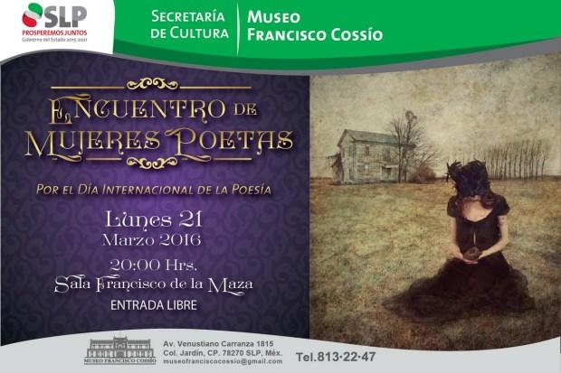 Encuentro de mujeres poetas en el Francisco Cossío @ Museo Francisco Cossío