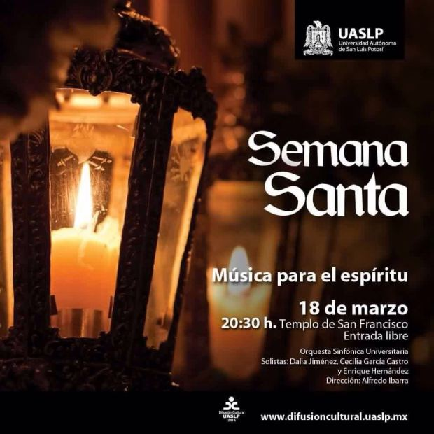 Música para el Espíritu - Concierto Semana Santa @ Templo de San Francisco | San Luis Potosí | San Luis Potosí | México