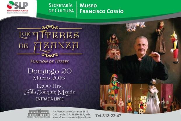 Los Títeres de Azanza @ Museo Francisco Cossío