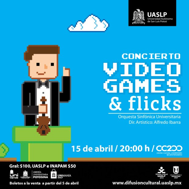 Concierto: Video Games & flicks @ Centro Cultural Universitario Bicentenario