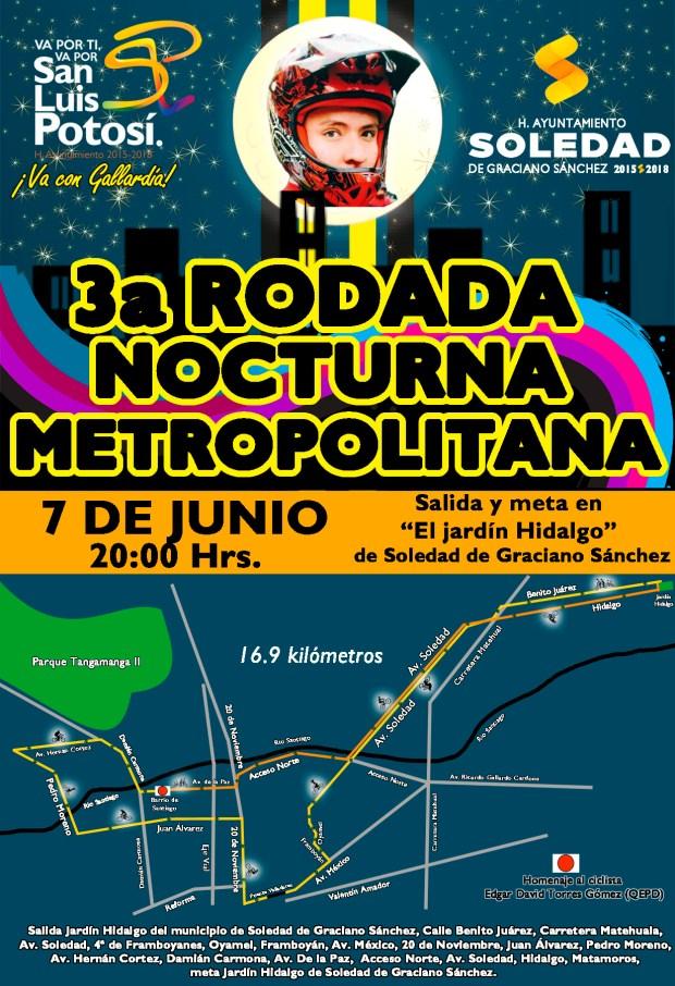 3a Rodada Nocturna Metropolitana REPROGRAMADA