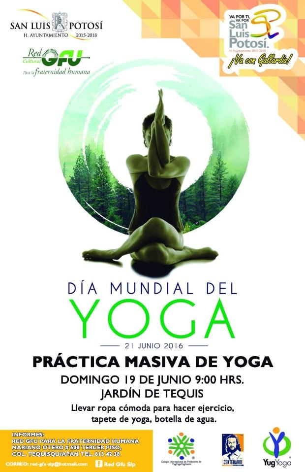 cartel dia mundial yoga baja