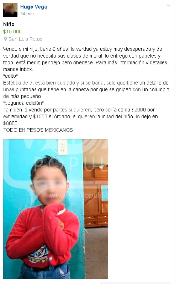 venta niño mercado libre