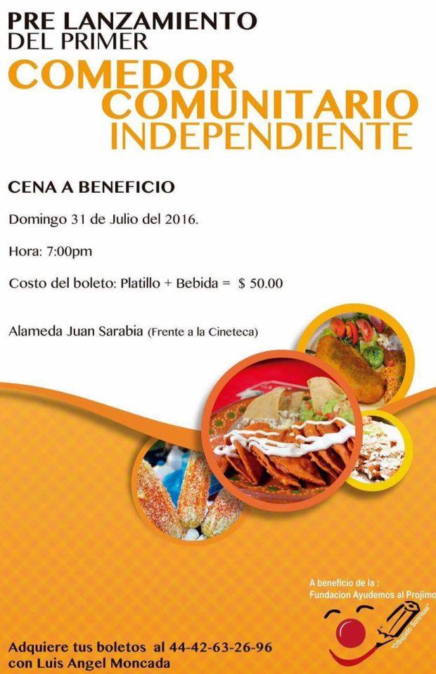 Cena en beneficio al primer comedor comunitario independiente de SLP @ Alameda Juan Sarabia | San Luis Potosí | San Luis Potosí | México