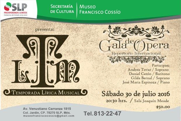 Gala de Ópera -Temporada Lírica Musical @ Museo Francisco Cossío