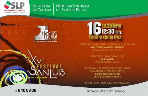 Concierto OSSLP dentro del Festival San Luis @ Teatro de la Paz