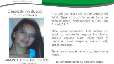 Photo of Desaparece otra joven en San Luis Potosí