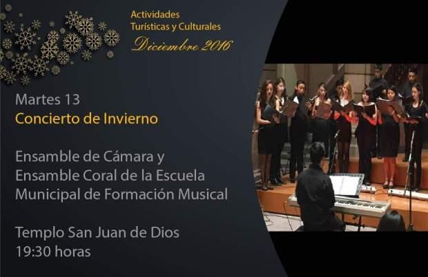 Concierto navideño con el Ensamble de Cámara y Ensamble coral de la Escuela Municipal @ Templo de San Juan de Dios