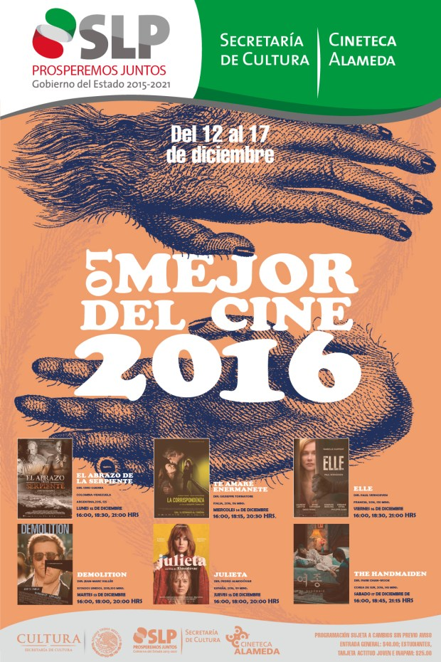 """Ciclo """"Lo mejor del cine 2016"""" @ Cineteca Alameda"""