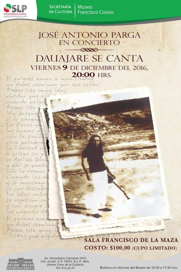 José Antonio Parga presenta Dahuajare se Canta en el Museo Francisco Cossío @ Museo Francisco Cossío