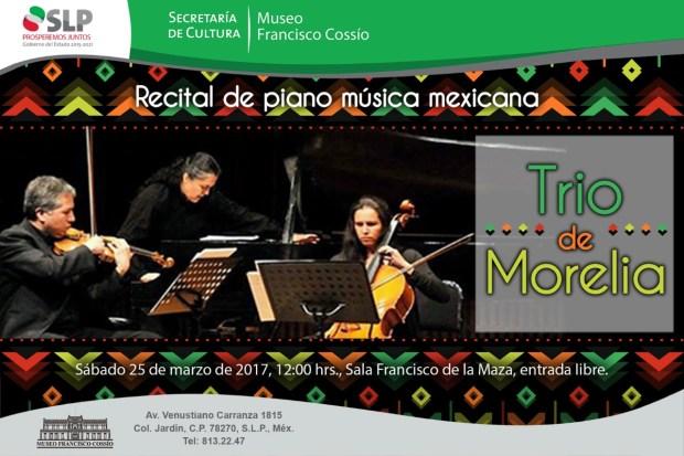 Trío Morelia presenta Recital de Música Mexicana @ Museo Francisco Cossío