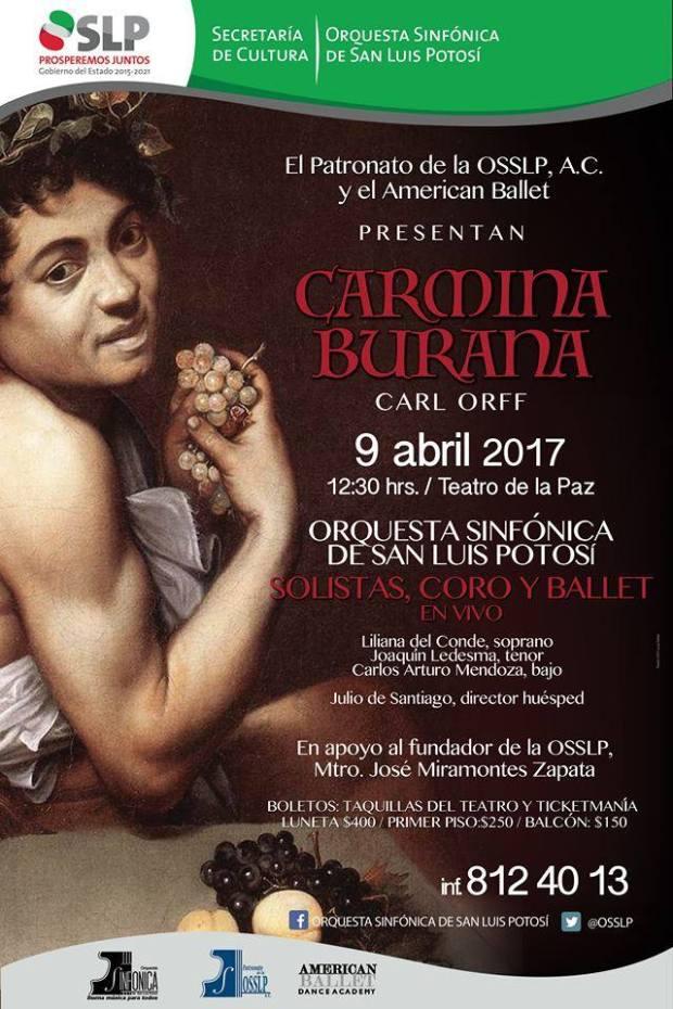 Carmina Burana: evento en apoyo al Maestro José Miramontes @ Teatro de la Paz
