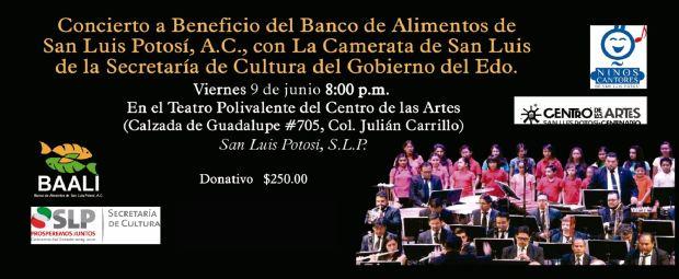 Concierto a Beneficio del Banco de Alimentos de San Luis Potosí @ Centro de las Artes de San Luis Potosí | San Luis Potosí | San Luis Potosí | México
