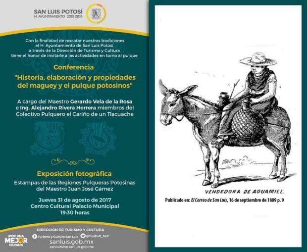 """Conferencia: """"Historia, elaboración y propiedades del maguey y el pulque potosinos"""" @ Centro Cultural Palacio Municipal"""