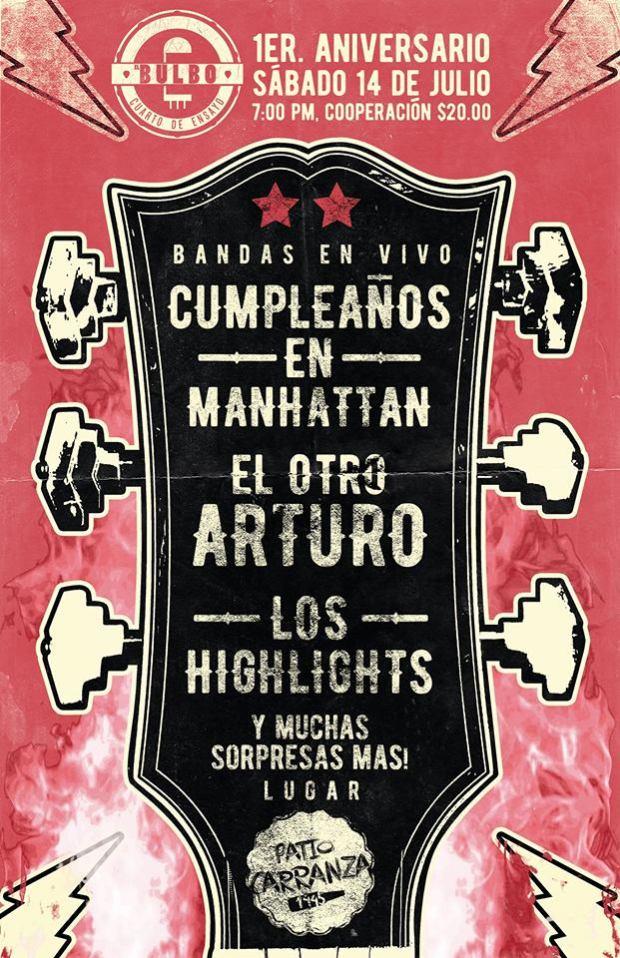 Aniversario del Bulbo Cuarto de Ensayo @ Patio Carranza | San Luis Potosí | San Luis Potosí | México