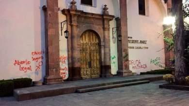 Photo of Edificio del Congreso amanece con pintas Pro Aborto