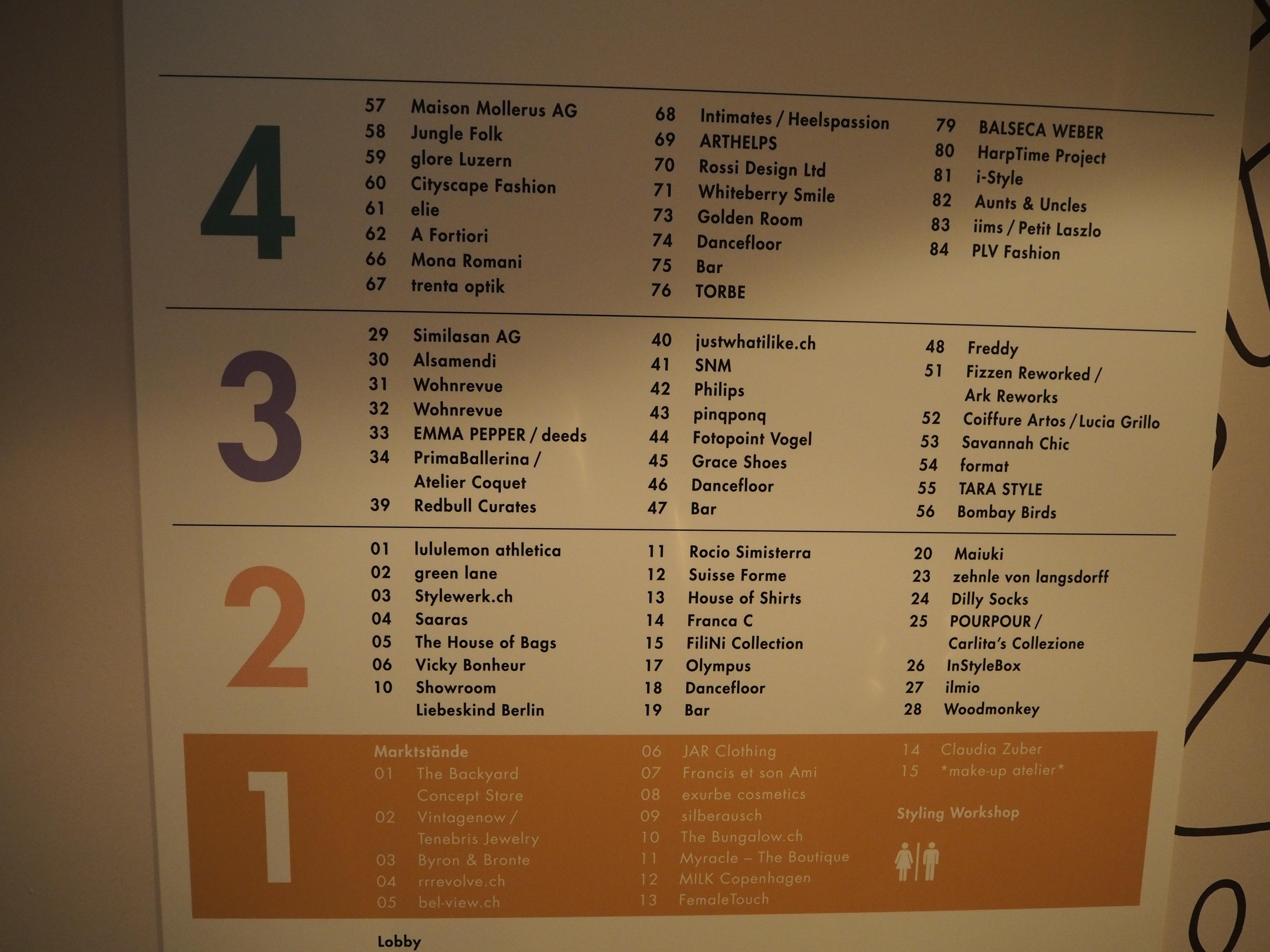 4 Ebenen und 75 Showrooms.