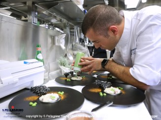 ZURICH/SWITZERLAND, 04.09.2017 - Diego Della Schiava, 'Sous Chef, 'The View Hotel' - Lugano, Switzerland. Percebes On The Rocks. Captured during the Swiss semifinals of S. Pellegrino Young Chef 2017 at Belvoir Park, Zurich/Switzerland. copyright by san pellegrino / photo by remy steinegger - www.steineggerpix.com