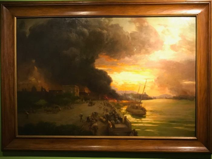 Fernando Amorsolo - The Burning of Manila - 1946