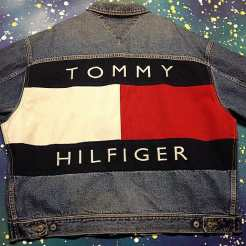 Here's some more Tommy for you! Check out this XXLarge denim jacket we just found! #metropolis #metropolisvintage #metropolisnycvintage #tommyhilfiger #tommyhilfigerdenim