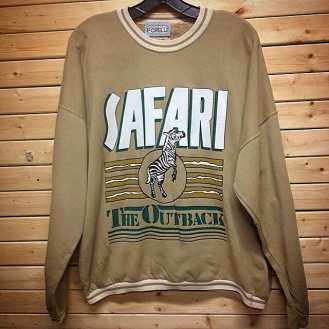 Vintage FIORELLI Sportswear SAFARI: THE OUTBACK Sweatshirt! #metropolis #metropolisnycvintage #metropolisnyc #fiorelli #safari #theoutback #aussie #retrovintage #90svintage