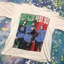 METROPOLIS HIP HOP T-SHIRT WEEK! NAUGHTY BY NATURE SUMMERFEST '93 T-Shirt! #metropolis #metropolisvintage #metropolisnycvintage #metropolistshirts #metropolistshirtmadness #vintagetshirts #tshirts #naughtybynature #summerfest93