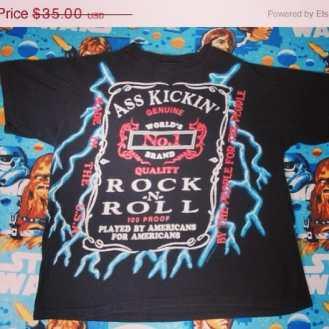 Ass kicking Rock&Roll Tshirt #vintage90s #vintagenyc #vintagetshirt #vintagerocknroll #music #love #metalmusic
