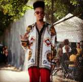 #kingkidlove in a #baroqueshirt from #metropolisvintage at #afropunk #tribenyc