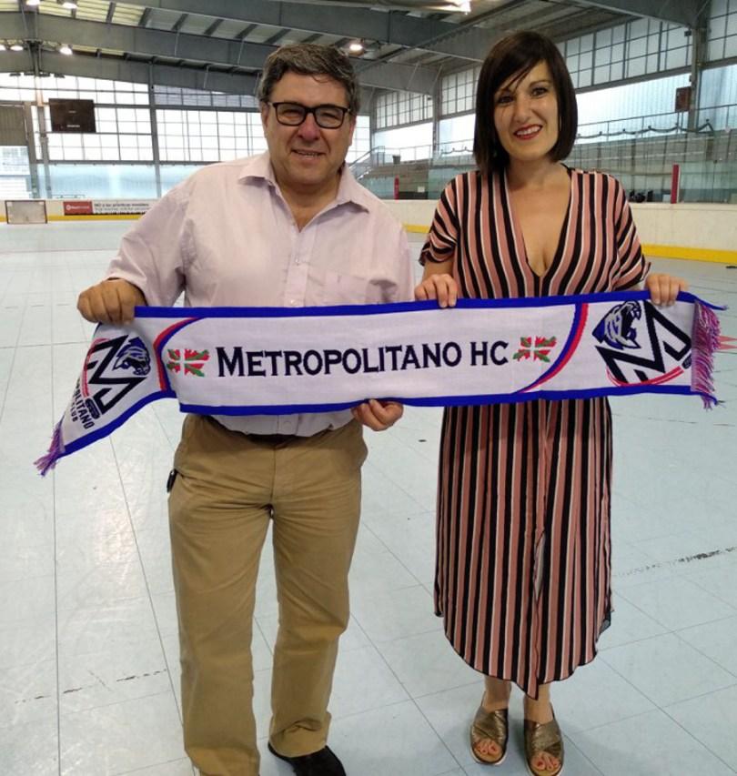 La Concejala Oihane Aguirregoitia Martinez visita al Metropolitado HC